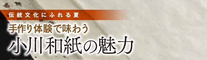 伝統文化にふれる夏 手作り体験で味わう 小川和紙の魅力